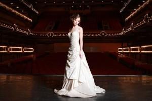 Forum de Liège - Shooting digaméSi - Robe de mariée sur-mesure